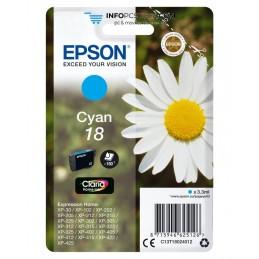 TINTA EPSON CLARIA 18 CIAN XP102 205 305 322 405 422 Epson C13T18024012
