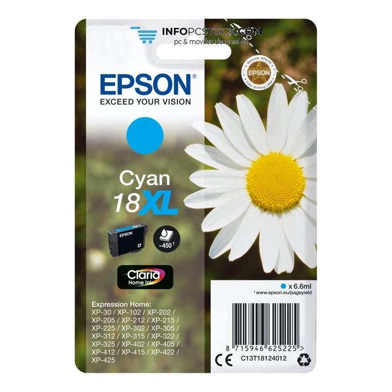 TINTA EPSON EXPRESION HOME 18XL CIAN XP102 205 215 305 405 Epson C13T18124012