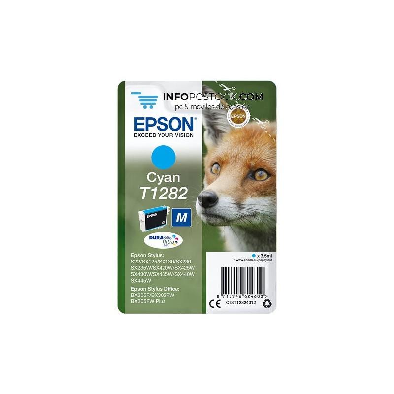 TINTA EPSON STYLUS CIAN S22 SX420W 425W OFFICE BX305F Epson C13T12824012