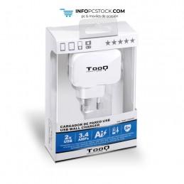 CARGADOR PARED USB TOOQ TQWC-11S02WT 2xUSB 3.4 BLANCO TooQ TQWC-1S02WT