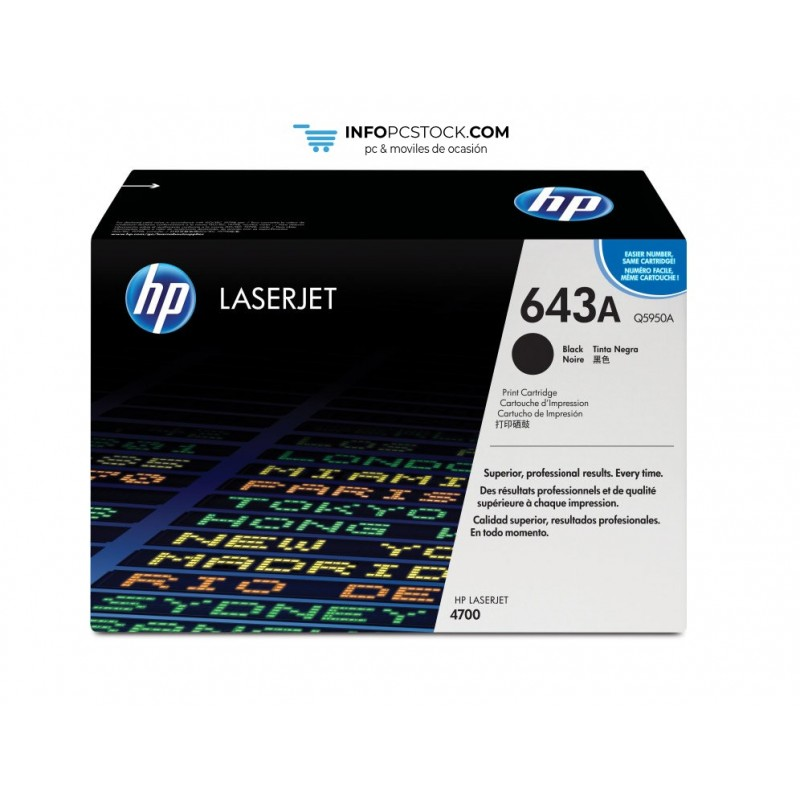 TONERHP643ANEGRO11000PAG HP Q5950A