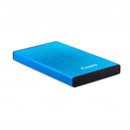 """CAJA EXTERNA TOOQ TQE-2527BL 2,5"""" 9,5 MM SATA USB 3.0 3.1 AZUL"""