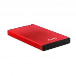 """CAJA EXTERNA TOOQ TQE-2527R 2,5"""" 9,5 MM SATA USB 3.0 3.1 ROJO"""