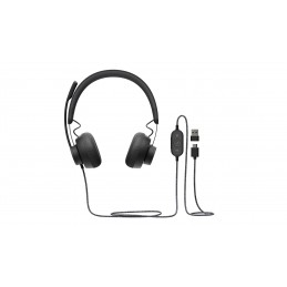AURICULARES LOGITECH ZONE WIRED NEGRO MICROFONO ALAMBRICO