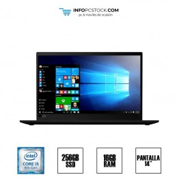 """LENOVO X1 CARBON, INTEL I5 8265U 1,80 GHZ, 16 RAM, 256 SSD, 14\\"""", TECLADO US Lenovo 1S20qdcto1wwpf1fp5yb"""