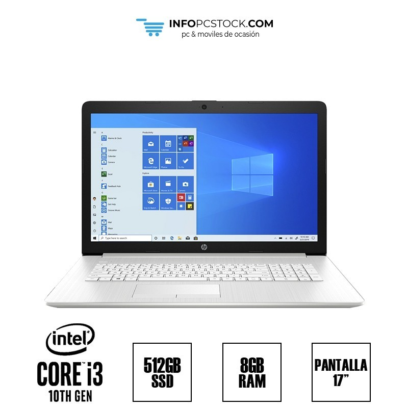 "HP 17-BY3400ND, INTEL I3 1005G1 1,20 GHz, 8 RAM, 512 SSD, 17\"" HP 158D8EA"