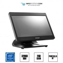 """TPV POSIFLEX XT-3810, INTEL CELERÓN N310 1,60 GHz, 2GB RAM, 320GB HDD, 15\\"""" TÁCTIL. Posiflex TPVPOSIFLEX3810"""