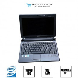 "ACER ASPIRE ONE PRO, INTEL ATOM N270 1,60 GHz, RAM 1GB, HDD 160GB, 10\"" acer LUS920B037918222A21601"
