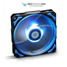 VENTILADOR CAJA NOX HUMMER H-FAN LED 120MM NEGRO LED AZUL NOX NXHUMMERF120LB