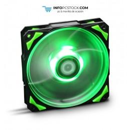 VENTILADOR CAJA NOX HUMMER H-FAN LED 120MM NEGRO LED VERDE NOX NXHUMMERF120LG