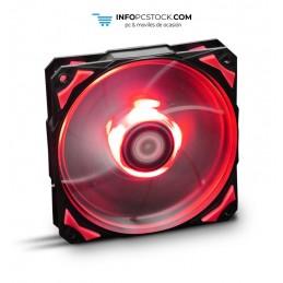 VENTILADOR CAJA NOX H-FAN LED 120MM NEGRO LED ROJO NOX NXHUMMERF120LR