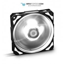 VENTILADOR CAJA NOX H-FAN LED 120MM NEGRO LED BLANCO NOX NXHUMMERF120LW