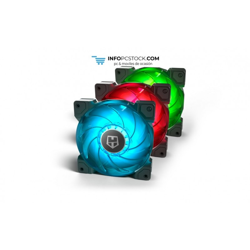 VENTILADOR CAJA NOX HUMMER H-SYNC RGB 120MM PACK 3 NOX NXHUMMERHSYNC
