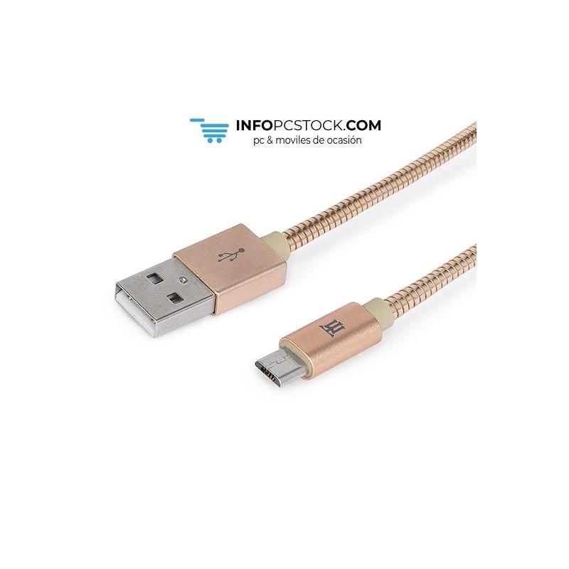 CABLE MAILLON PREMIUM MICRO USB 2.4 METAL DORADO 1M Maillon Technologique MTPMUMG241