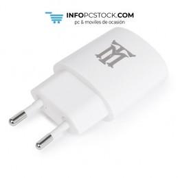 CARGADOR USB MAILLON PARED PREMIUM 2,4A BLANCO 1 CONECTOR Maillon Technologique MTWC1W24