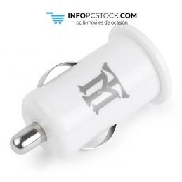 CARGADOR USB MAILLON COCHE BASIC 2,1A BLANCO 1 CONECTOR Maillon Technologique MTCC1W21