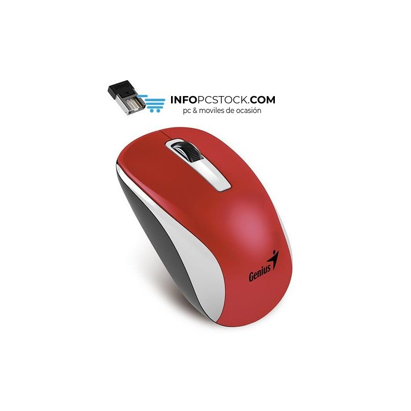 RATON GENIUS NX 7010 RF INALAMBRICO USB ROJO METAL Genius 31030114111