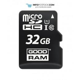 MICRO SD GOODRAM 32GB C10 UHS-I CON ADAPTADOR Goodram M1AA-0320R12
