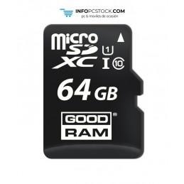 MICRO SD GOODRAM 64GB C10 UHS-I CON ADAPTADOR Goodram M1AA-0640R12