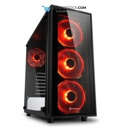 CAJA SHARKOON TG4 RED ATX 2XUSB3.0 SIN FUENTE Sharkoon 4044951026647