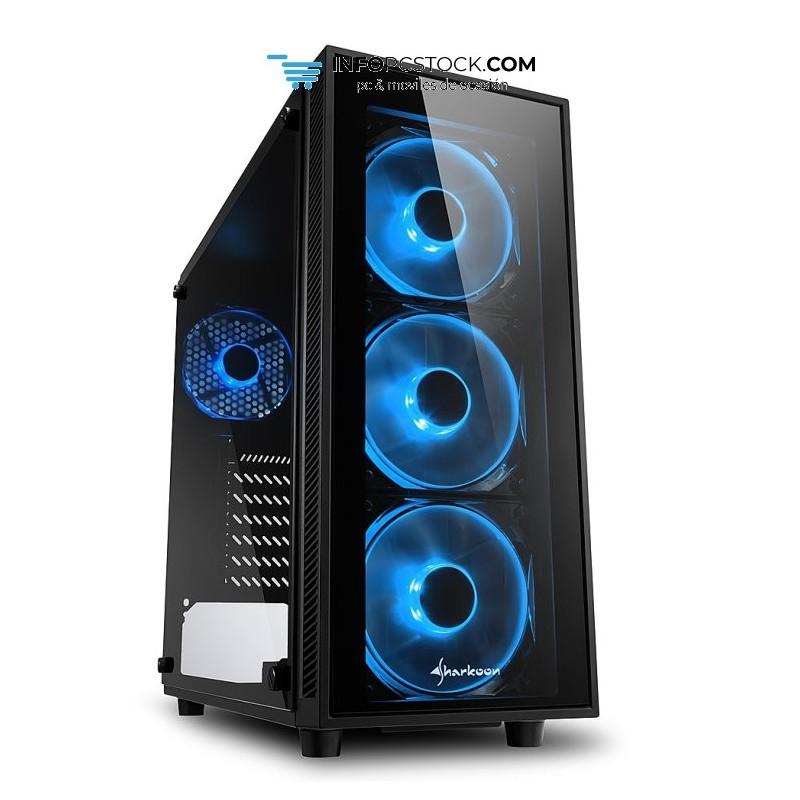 CAJA SHARKOON TG4 BLUE ATX 2XUSB3.0 SIN FUENTE Sharkoon 4044951026661