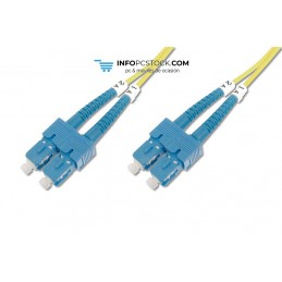 CABLE CONEXION FIBRA OPTICA DIGITUS SM SC a SC OS2 09/125 2m ASSMANN Electronic DK-2922-02