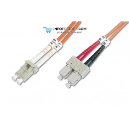 CABLE CONEXION FIBRA OPTICA DIGITUS MM OM2 LC a SC 50/125 2m ASSMANN Electronic DK-2532-02