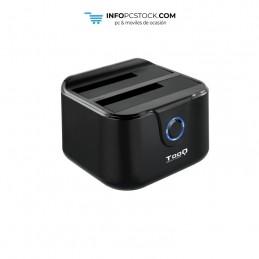 """DOCK TOOQ TQDS-802B 2xSATA 2,5\\""""/3,5\\"""" USB 3.0, CLONE OTB NEGRO TooQ TQDS-802B"""