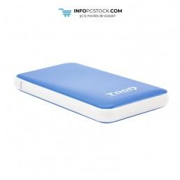 """CAJA EXTERNA TOOQ TQE-2528BL 2,5\\"""" 9,5 MM SATA USB 3.1 GEN1 AZUL TooQ TQE-2528BL"""