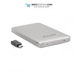 """CAJA EXTERNA TOOQ TQE-2531S 2,5\\"""" 9,5 MM USB 3.1 GEN1 USB-C PLATA TooQ TQE-2531S"""