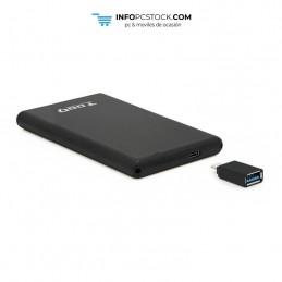 """CAJA EXTERNA TOOQ TQE-2533B 2,5\\"""" 9,5 MM SATA USB 3.1 GEN2 USB-C NEGRO TooQ TQE-2533B"""