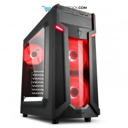 CAJA SHARKOON VG6-W ATX 2XUSB3.0 SIN FUENTE RED Sharkoon 4044951026784