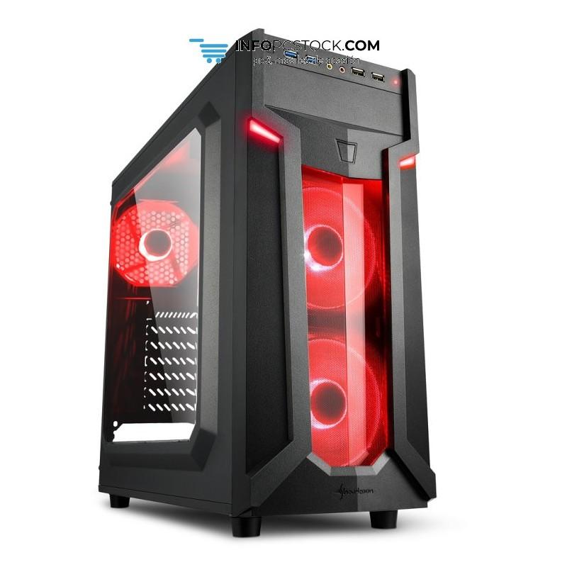CAJA SHARKOON VG6-W ATX 2XUSB3.0 SIN FUENTE RED Sharkoon 4044951026784