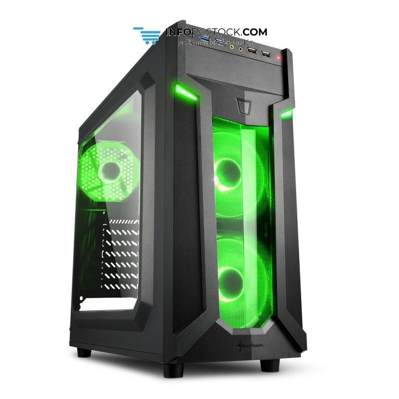 CAJA SHARKOON VG6-W ATX 2XUSB3.0 SIN FUENTE GREEN Sharkoon 4044951026791