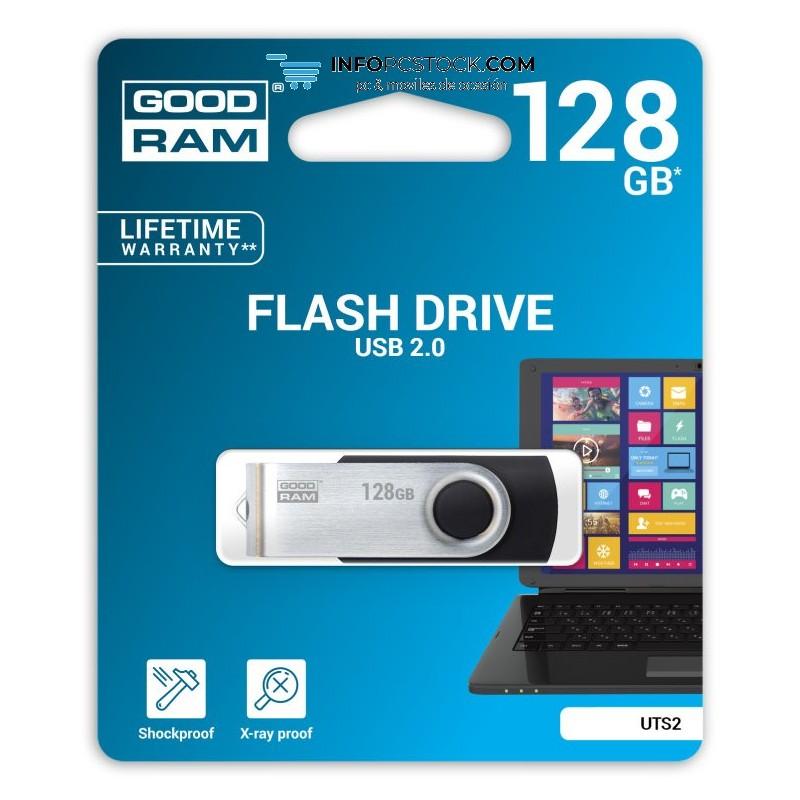 USB 2.0 GOODRAM 128GB UTS2 NEGRO Goodram UTS2-1280K0R11