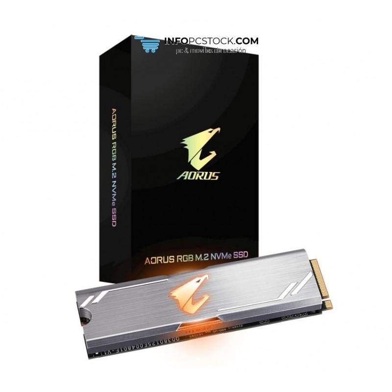 SSD GIGABYTE AORUS 256GB M.2 RGB Gigabyte GP-ASM2NE2256GTTDR AORUS RGB