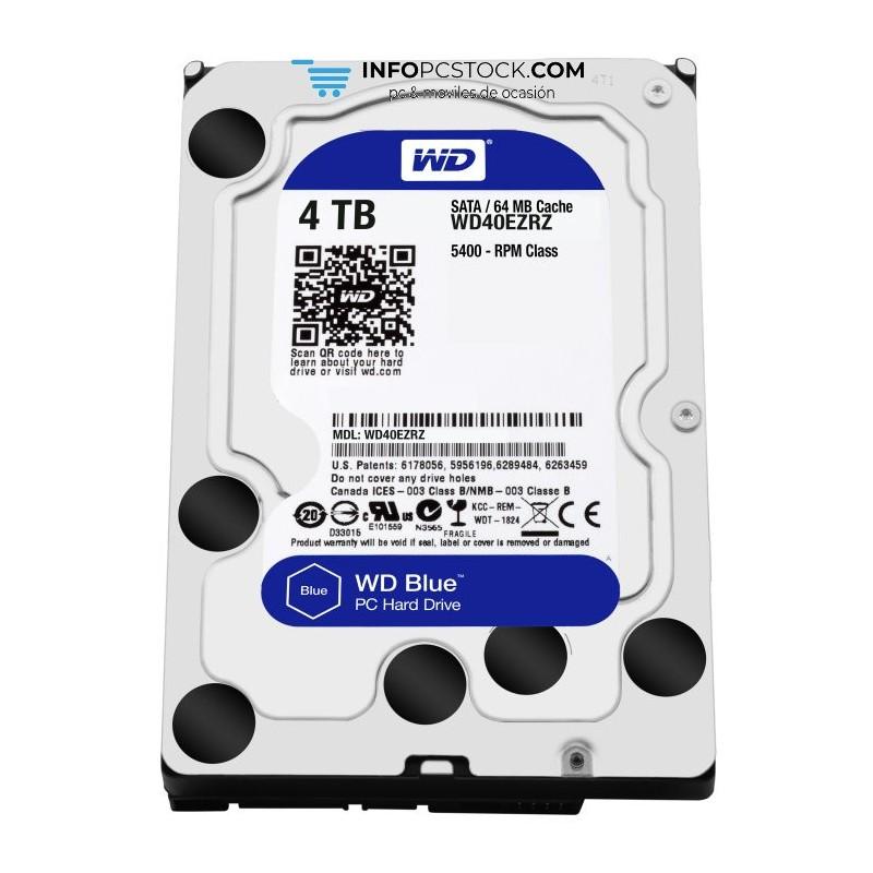 DISCO WD BLUE 4TB SATA6 64MB Western Digital WD40EZRZ