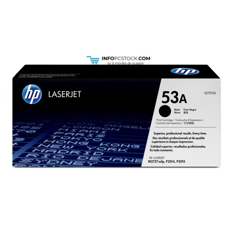 TONER HP NEGRO  P2014 P2015  3000PAG HP Q7553A
