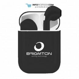 AURICULARES BRIGMTON CON BASE DE CARGA NEGRO BLUETOOTH Brigmton BML-18-N