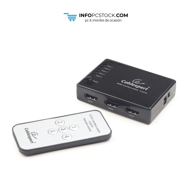SWITCH HDMI GEMBIRD 5 PUERTOS Gembird DSW-HDMI-53