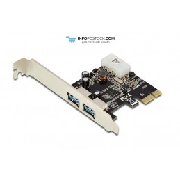 TARJETA EXPANSION DIGITUS PCI EXPRESS 2x USB 3.0 INCL. LOW PROFILE BRACKET ASSMANN Electronic DS-30220-4