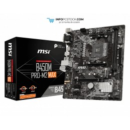 PLACA BASE MSI B450M PRO-M2 MAX AM4 MATX 2XDDR4 MSI 911-7B84-024