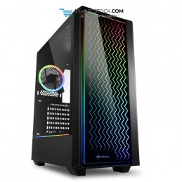 CAJA SHARKOON LIT 200 ATX 2XUSB3.0 RGB SIN FUENTE NEGRO Sharkoon 4044951028160