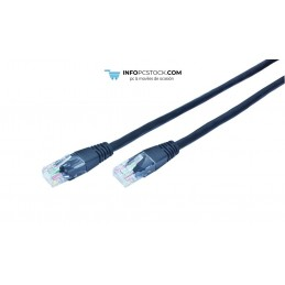 CABLE RED GEMBIRD UTP CAT5E 5M NEGRO Gembird PP12-5M/BK