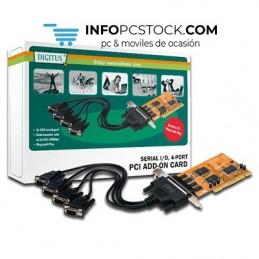 TARJETA PCI DIGITUS 4 PUERTOS EN SERIE DSUB 9M CON SOPORTES ASSMANN Electronic DS-33002-1