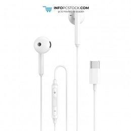 AURICULARES ENJOY CON CONTROL DE VOLUMEN TIPO C CABLE 1M BLANCO hOme YEP-06