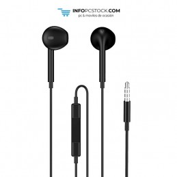 AURICULARES ENJOY CON MICROFONO NEGRO CONTROL DE VOLUMEN JACK 35 MM CABLE 1M hOme YEP-09B