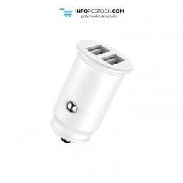 ADAPTADOR DE COCHE ENJOY BLANCO 2 USB X 5V/24A hOme YCC-01W