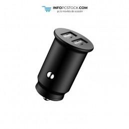 ADAPTADOR DE COCHE ENJOY NEGRO 2 USB X 5V/24A hOme YCC-01B
