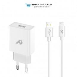 ADAPTADOR DE RED ENJOY 1 USB QC 30 5V/3A 9V/2A 12V/15A 18W MAX TIPO C 1M BLANCO hOme YTC-06-C